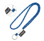 ML1109 - 3 tone lanyard with woven label. Min 100 pcs